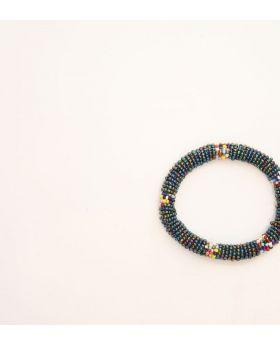 Beaded glass bracelet