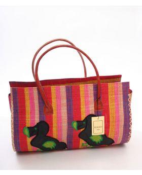Medium Raffia Handbag