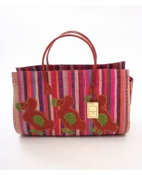 Large Raffia Handbag