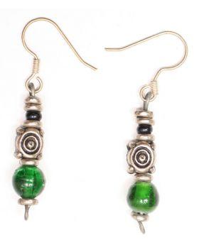 Silver & Glass Earrings