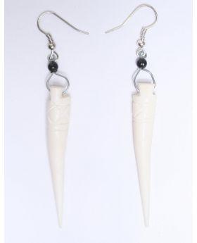 Bone Drop Earrings