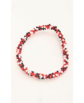 Flexible Children beaded glass bracelet