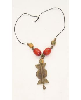 Benin Solibera Pendant necklace with coconut shell beads