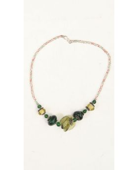 Korobo glass and silver necklace