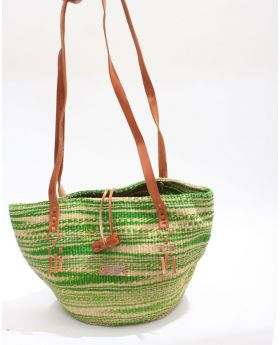 Clasp sisal handbag