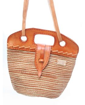 3-in-1 hand bag with leather straps