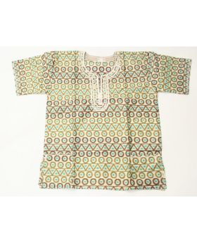 African dashiki cotton shirt with embroidery