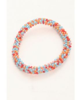 Flexible Children beaded glass bracelet