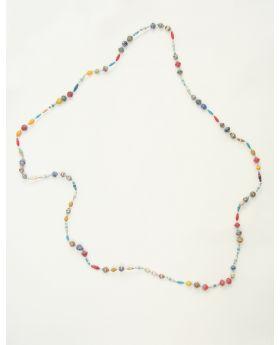 Magazine long strand necklace