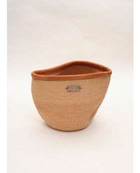 Sisal Bin Basket with Bindings