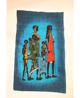 Massai Mother and her children