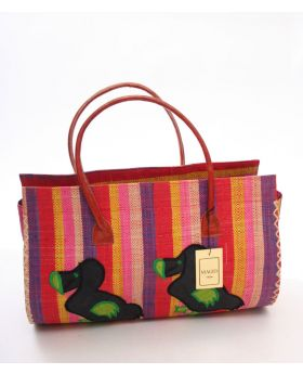 Medium Raffia Handbag