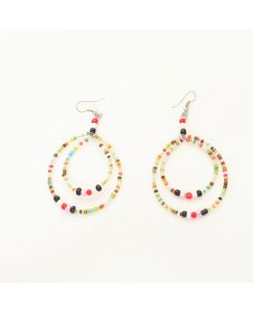 Multistrand Maasai Bead Earrings