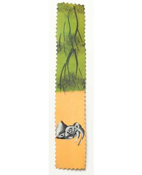 Hand painted leather bookmark