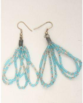 Multistrand Maasai Bead Earrings