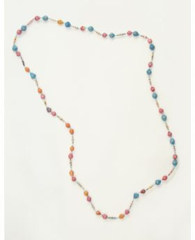 Magazine long strand necklace