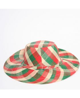 Medium brim raffia hat